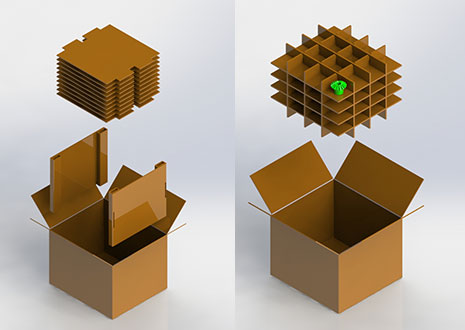 Designed Corrugated Boxes and Inserts