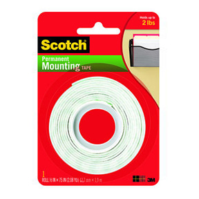 "110 1/2 X 75"" Double Coated Foam Mounting Tape Carded 24Rl/Cs"