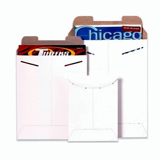 "11 X 13-1/2"" #3 White Stayflat Tab-Lock Mailer 100/Cs"