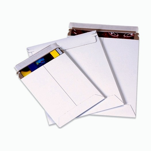 "11 X 13-1/2"" #3 White Stayflat Self-Seal Mailer 100/Cs"