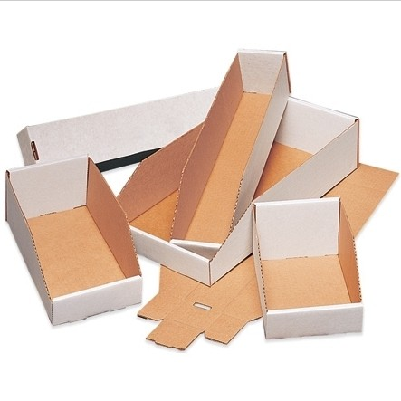 "12 X 18 X 4-1/2"" Corrugated Bin Boxes 50/Bn 900/Plt"