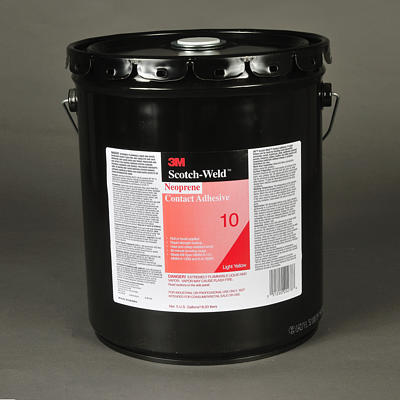 10 Fastbond Contact Adhesive High Performance Light Yellow 5 Gl/Pail