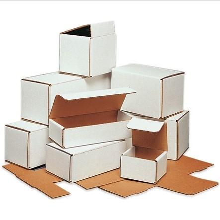 """10 X 6 X 4"""" White Corrugated Mailer 50/Bn 1600/Plt"""