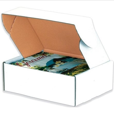 "10 X 10 X 5"" White Tab Locking Corrugated Mailer 50/Bn 900/Plt"