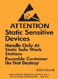 "1-3/4 X 2-1/2"" Stat Sens Device Anti-Static Label 1000/Rl"