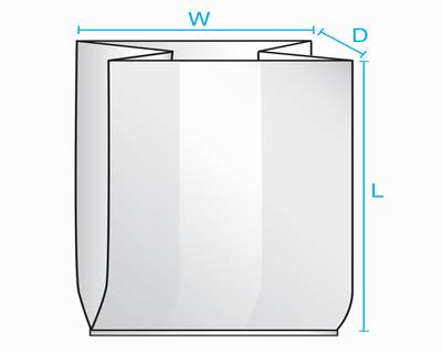 "10 X 8 X 24"" 2Mil Gusseted Poly Bag 100/Pk 500/Cs"