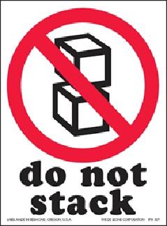 "3 X 4"" Do Not Stack Label International Handling Label 500/Rl"
