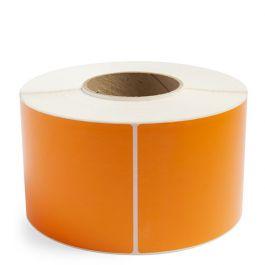 "3 X 1"" Direct Thermal Rectangle Orange 1"" Core 1500/Rl 16Rl/Cs"