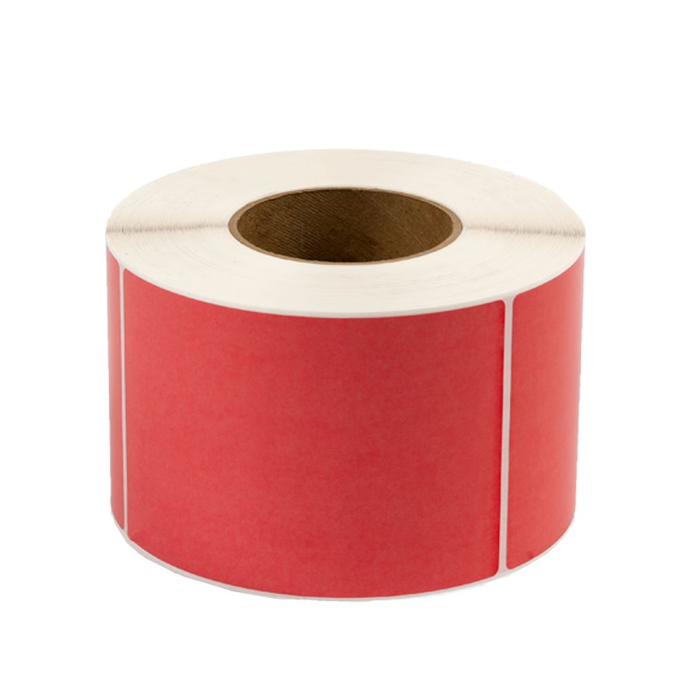 """3 X 1"""" Direct Thermal Rectangle Red 1"""" Core 1500/Rl 16Rl/Cs"""