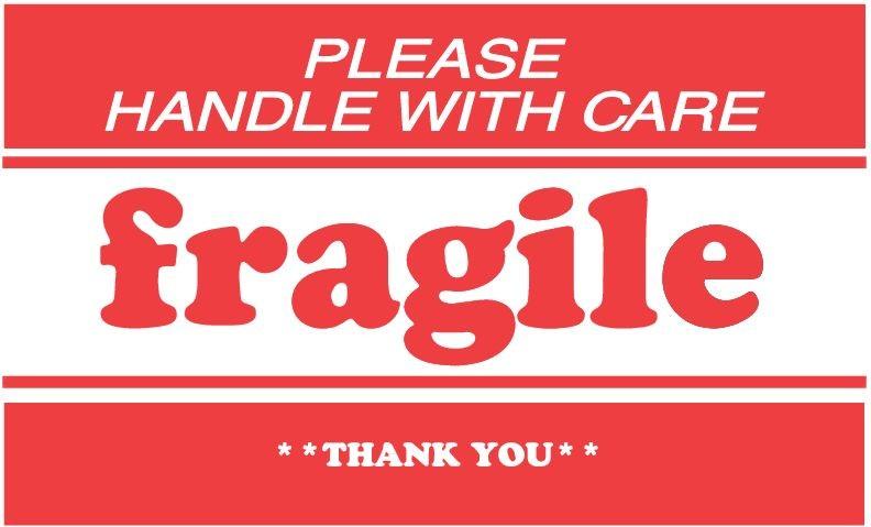 "2 X 3"" Please Handle W/Care Fragile Label 500/Rl"