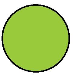 "1-1/2"" Diameter Circle Fluorescent Green Inventory Label 1000/Rl"