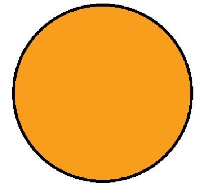"1-1/2"" Diameter Circle Fluorescent Orange Inventory Label 1000/Rl"