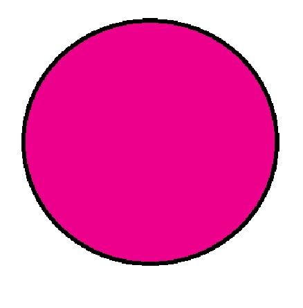 "1-1/2"" Diameter Circle Fluorescent Pink Inventory Label 1000/Rl"
