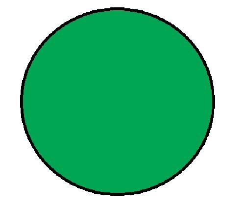 "1"" Diameter Circle Green Inventory Label 1000/Rl"