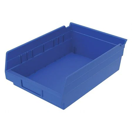 "11 X 11 X 5"" Blue Stackable Plastic Bin 6/Ctn"