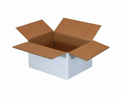 """12 X 9 X 4"""" 200# White Box 25/Bn 500/Plt"""