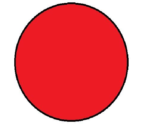 "1"" Diameter Circle Red Inventory Label 1000/Rl"