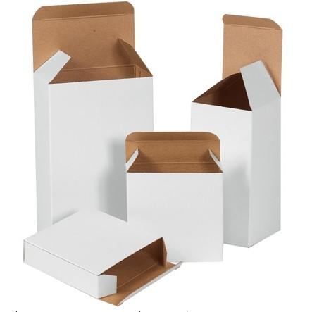 "1-1/2 X 1-1/2 X 2-1/4"" White Reverse Tuck Fold Carton 1000/Cs"