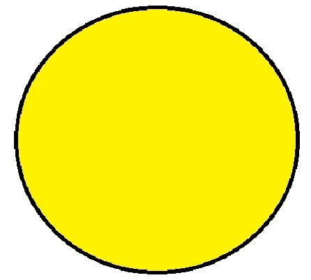 "1-1/2"" Diameter Circle Yellow Inventory Label 1000/Rl"